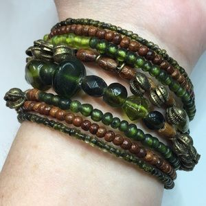 Jewelry - Boho Stacked Wrap Bracelet